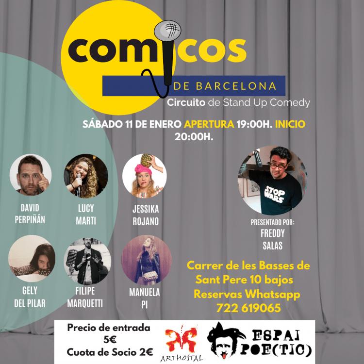 Sábado de Monólogos Cómicos de Barcelona 11-01-20 Freddy Salas