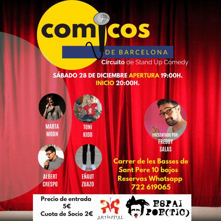 Sábado de Monólogos Cómicos de Barcelona 28-12-19