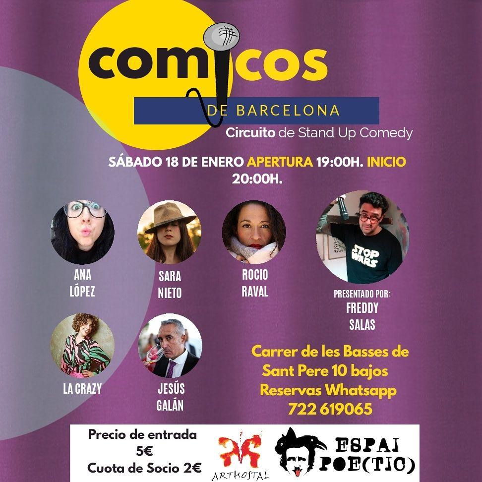 Comicos de Barcelona Freddy Salas