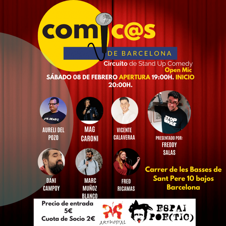 Cómicos de Barcelona Freddy Salas 08-02-20