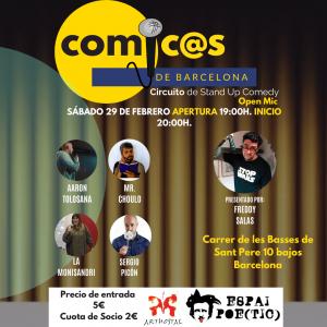 Sábado de Monólogos Cómicos de Barcelona 29-02-20