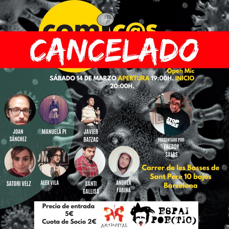 Cómicos de Barcelona Coronavirus Freddy Salas