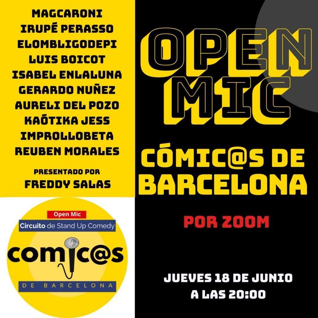 Comicos de Barcelona Online 18-06-20