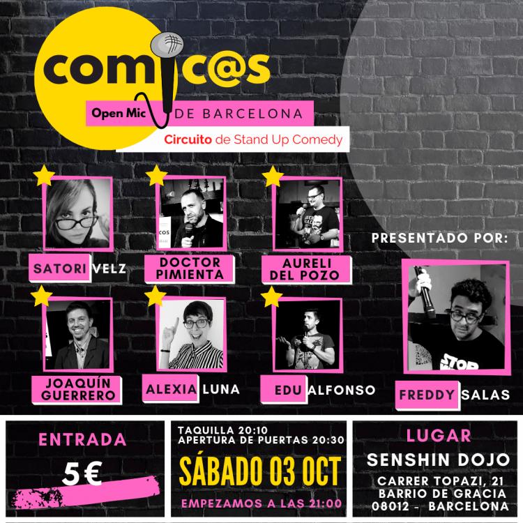 Sábado de Monólogos Cómic@s de Barcelona 03-10-20