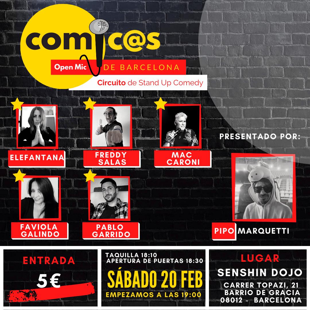 Sábado de Monólogos Cómicos de Barcelona 20-02-21