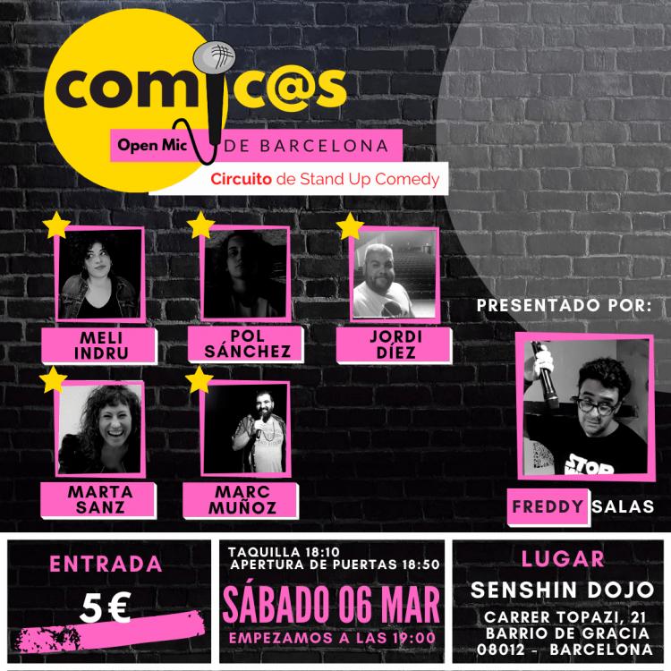 Sábado de Monólogos Cómicos de Barcelona 06-03-21