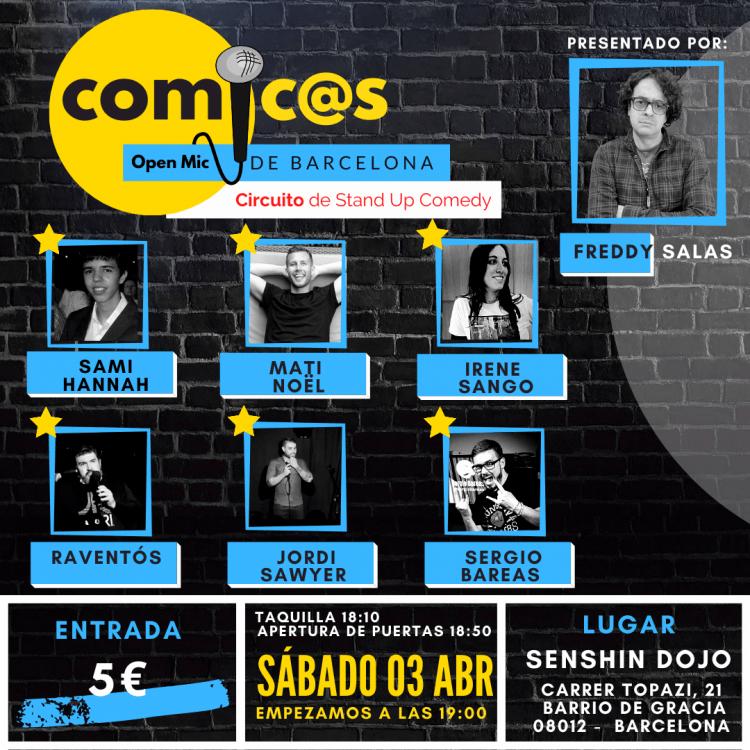 Sábado de Monólogos Cómicos de Barcelona 03-04-21