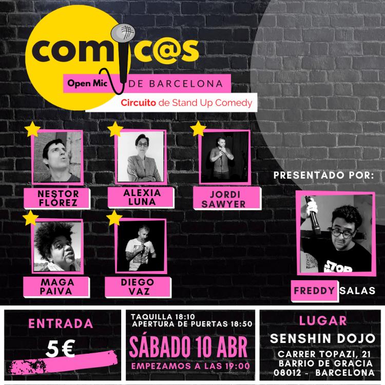 Sábado de Monólogos Cómicos de Barcelona 10-04-21
