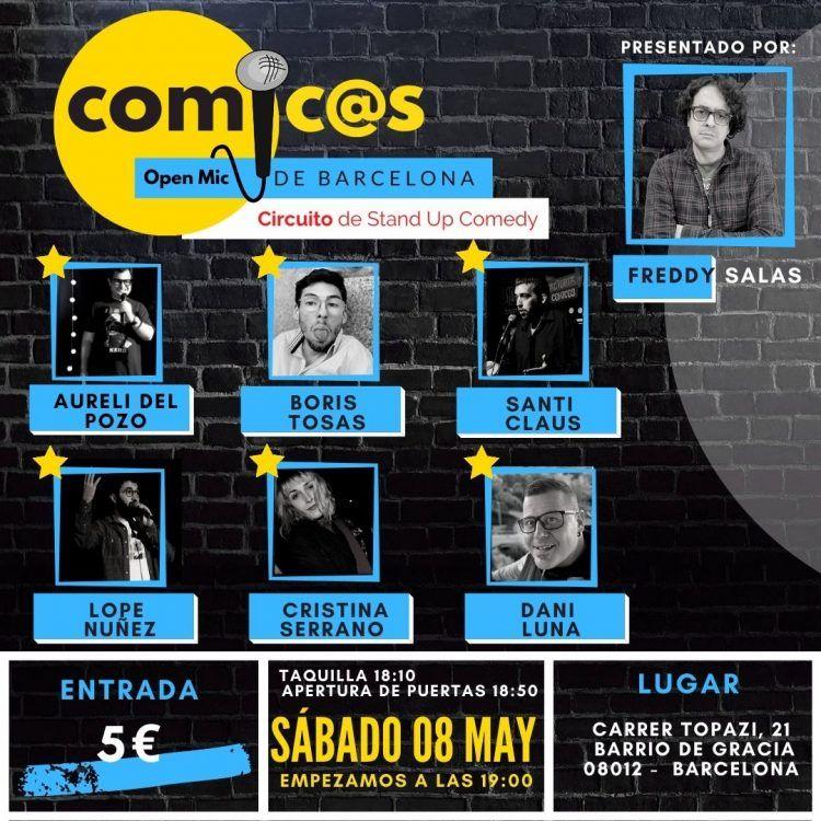 Sábado de Monólogos Cómicos de Barcelona 08-05-21