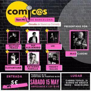 Sábado de Monólogos Cómicos de Barcelona 15-05-21