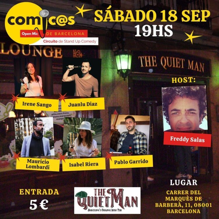 Sábado de Monólogos Cómicos de Barcelona 18-09-21