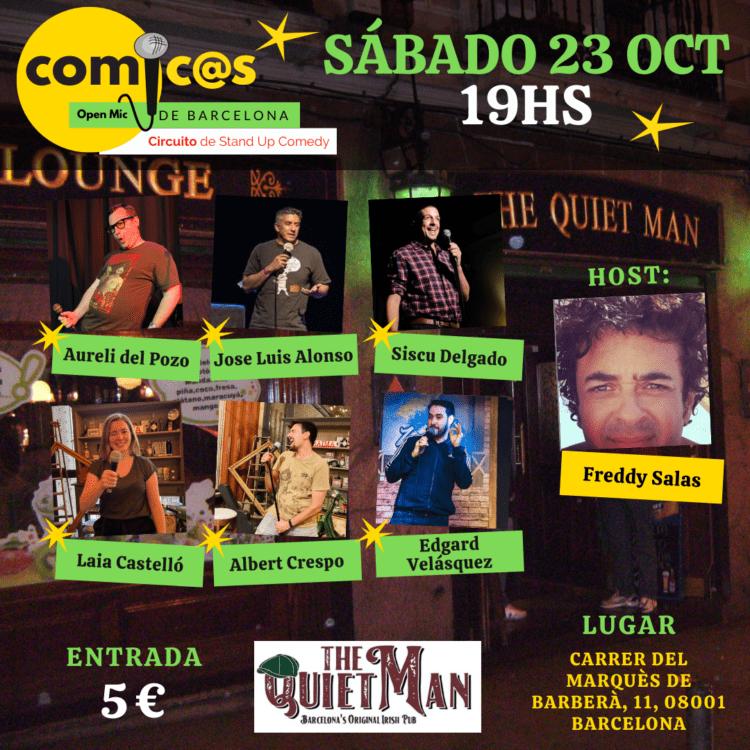 Sábado de Monólogos Cómicos de Barcelona 23-10-21